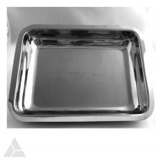 "Instrument Tray, Heavy Duty 8""x6""x1.5"", 18/8 Stainless Steel, FDA Approved (786-1143H-1)"